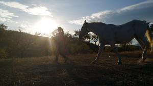 Meike en paard Blanca